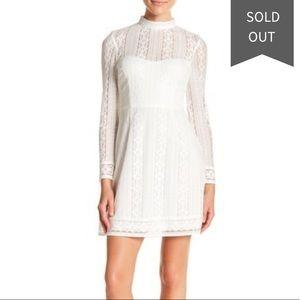 Kenzie Ivory Victorian Lace Sheath Dress EUC